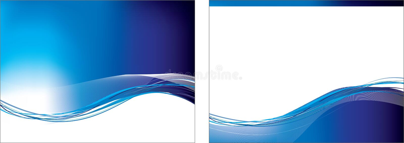 Jogo azul do swoosh de 2 fundos ilustração do vetor