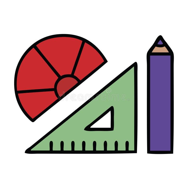 jogo bonito das matem?ticas dos desenhos animados ilustração do vetor