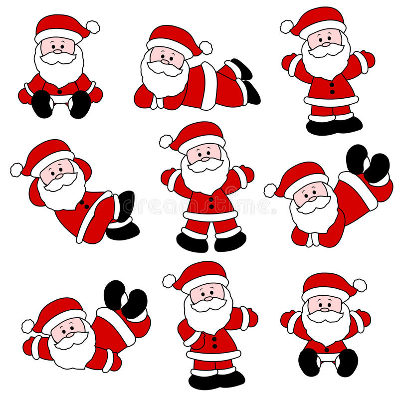 Jogo bonito de Santa ilustração stock