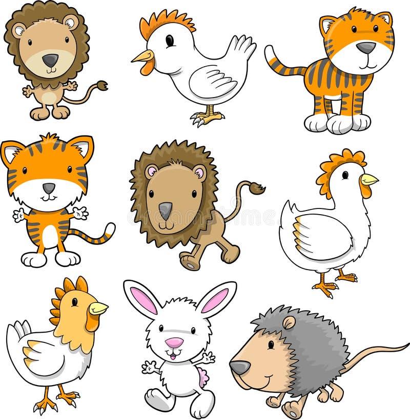 Jogo bonito do animal ilustração royalty free