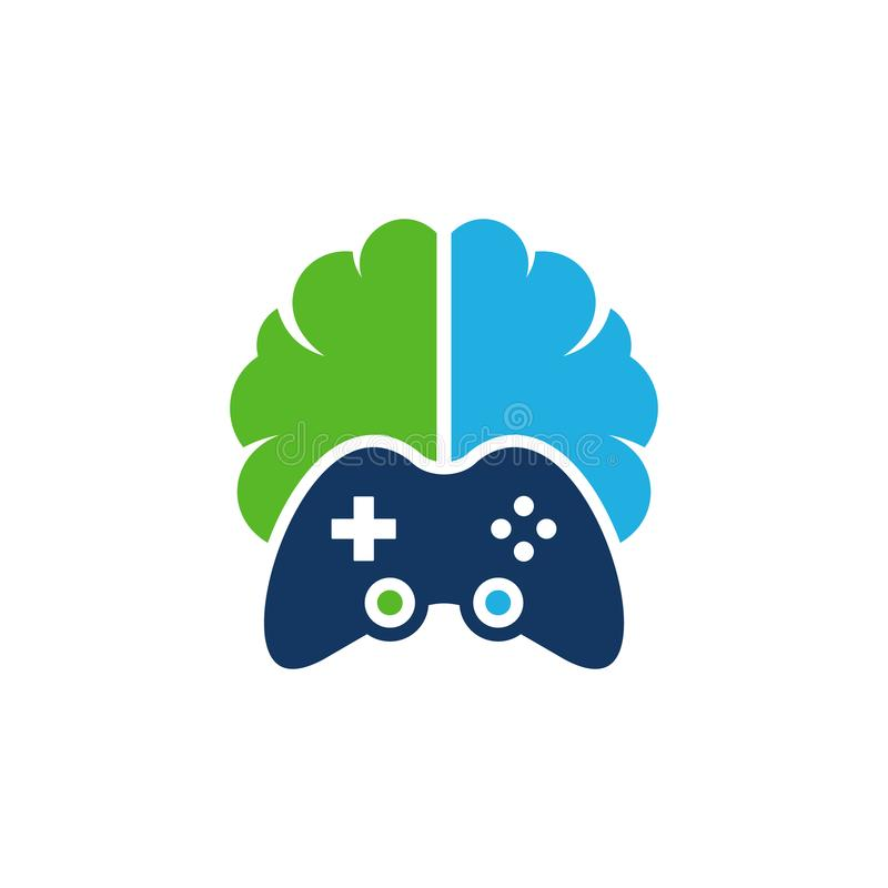 Jogo Brain Logo Icon Design ilustração stock