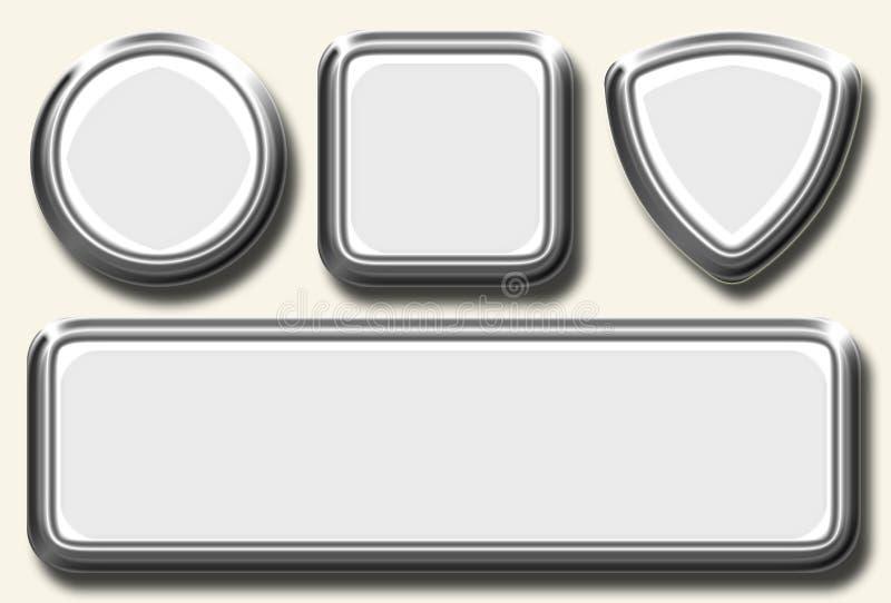 Jogo branco do ícone ilustração stock