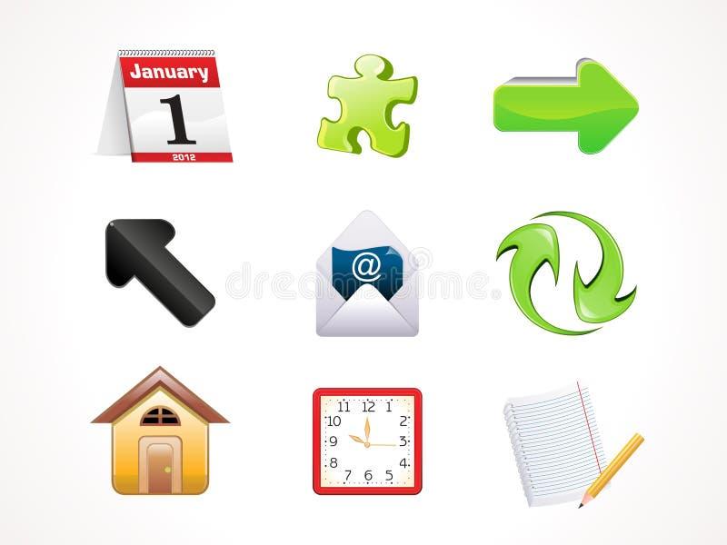 Jogo brilhante abstrato do ícone do Web ilustração do vetor