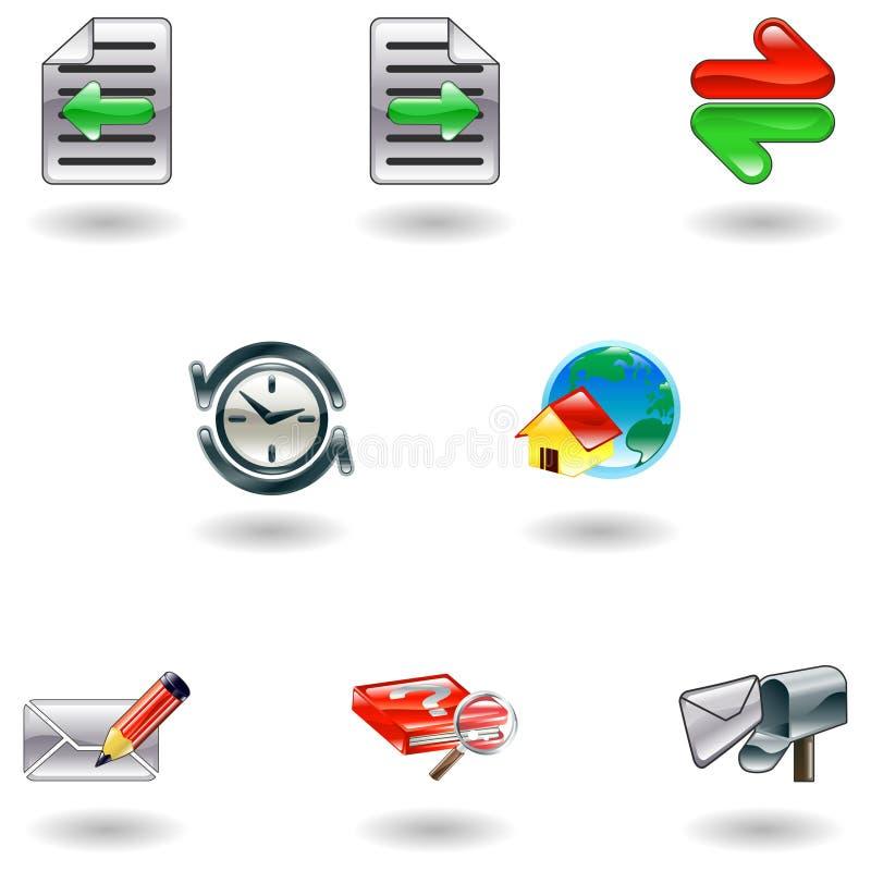 Jogo brilhante do ícone do navegador de Internet ilustração royalty free