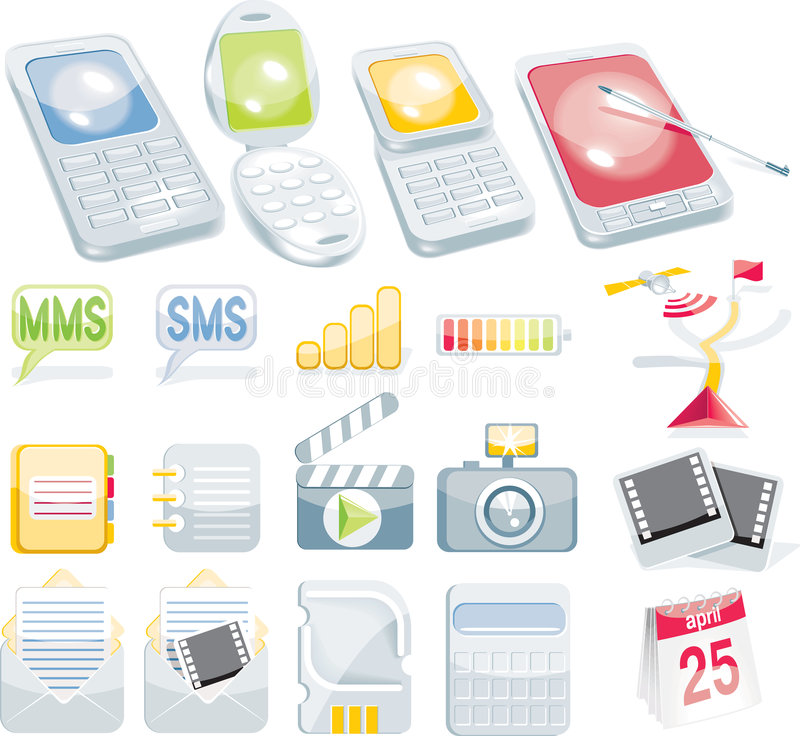 Jogo celular do ícone ilustração royalty free