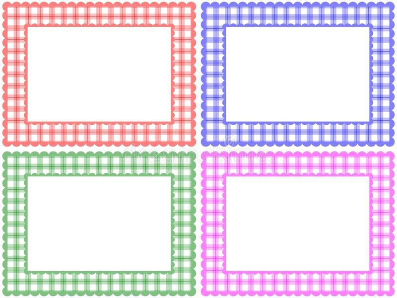 Jogo Checkered do frame do teste padrão ilustração do vetor