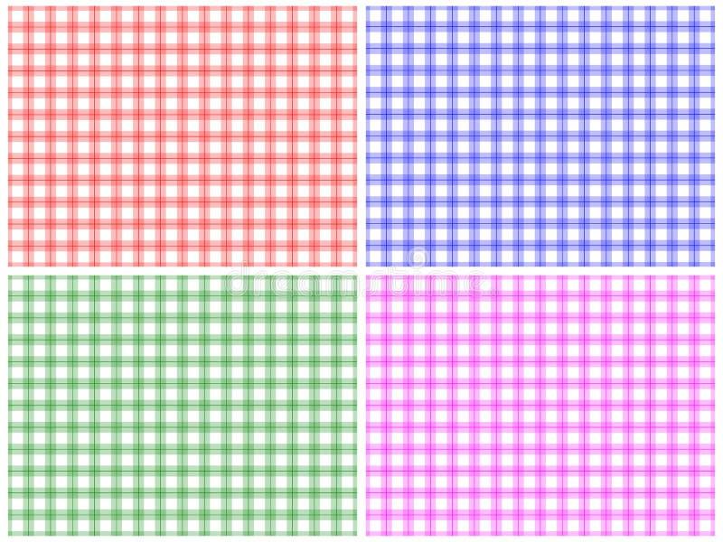 Jogo Checkered do teste padrão ilustração do vetor
