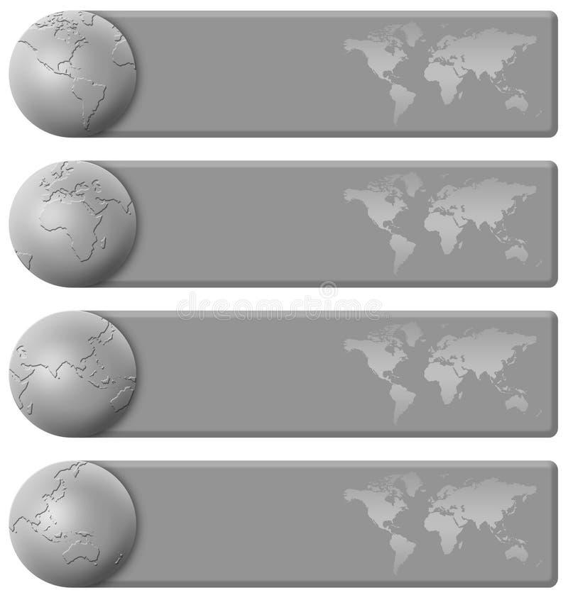 Jogo cinzento da bandeira do mundo ilustração royalty free