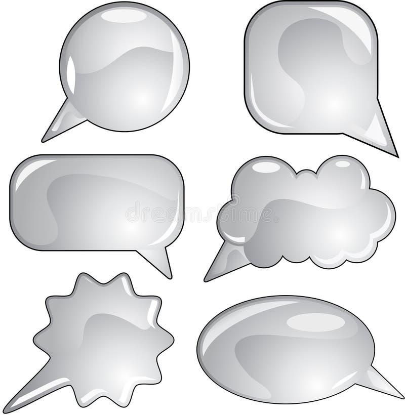 Jogo cinzento da bolha do discurso ilustração do vetor