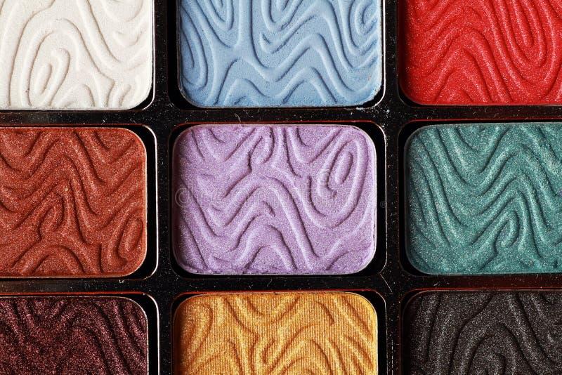 Jogo colorido dos cosméticos da composição fotografia de stock