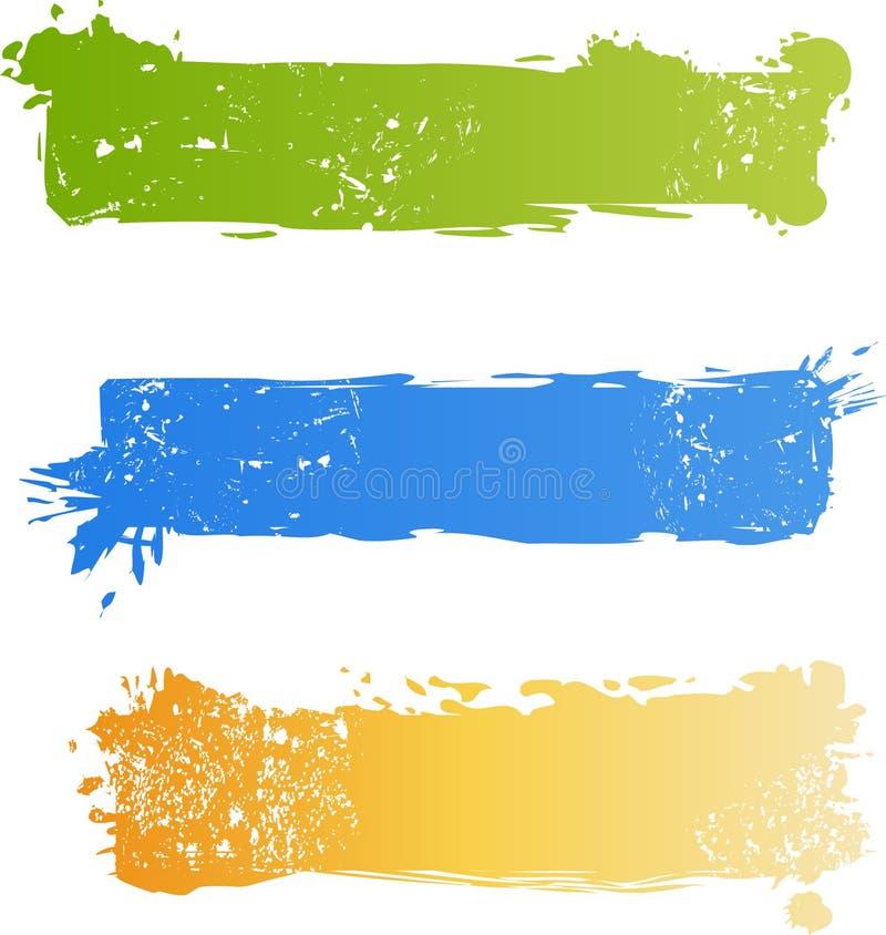 Jogo colorido sujo da bandeira ilustração royalty free
