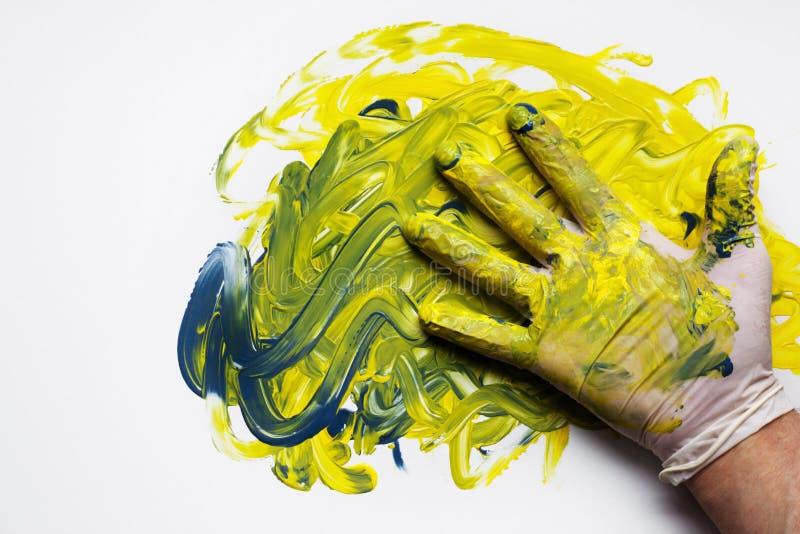 Jogo com cores múltiplas das pinturas foto de stock royalty free