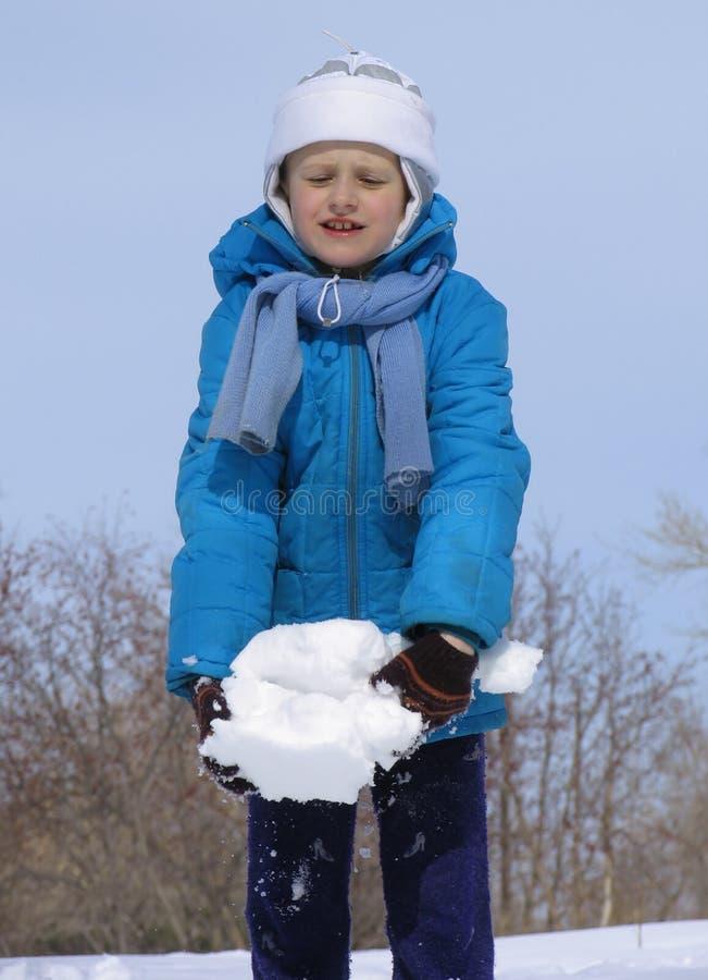 Jogo com neve fotografia de stock