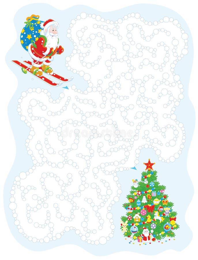 Jogo com Santa ilustração stock