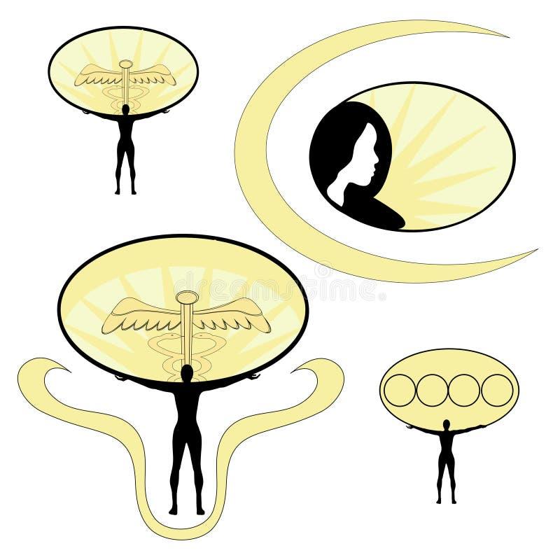 Jogo cosmético médico do projeto ilustração royalty free