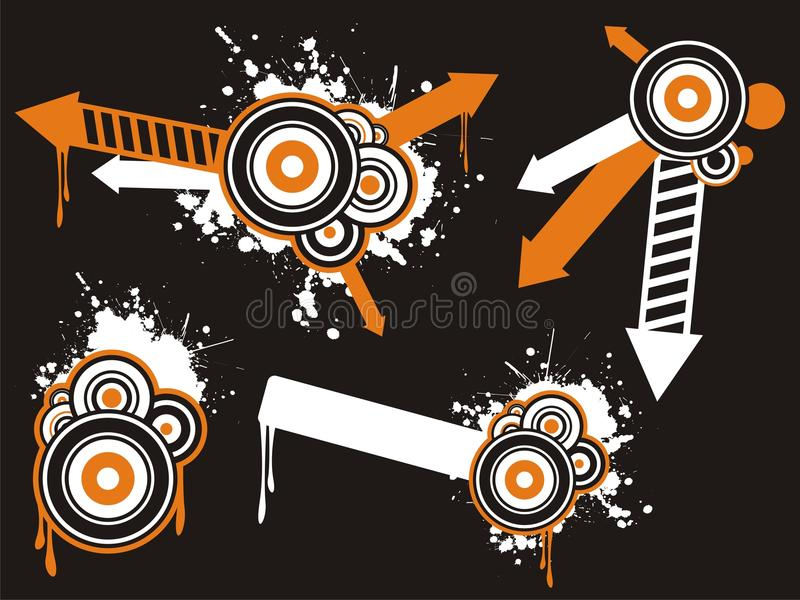 Jogo creativo abstrato do gráfico ilustração do vetor