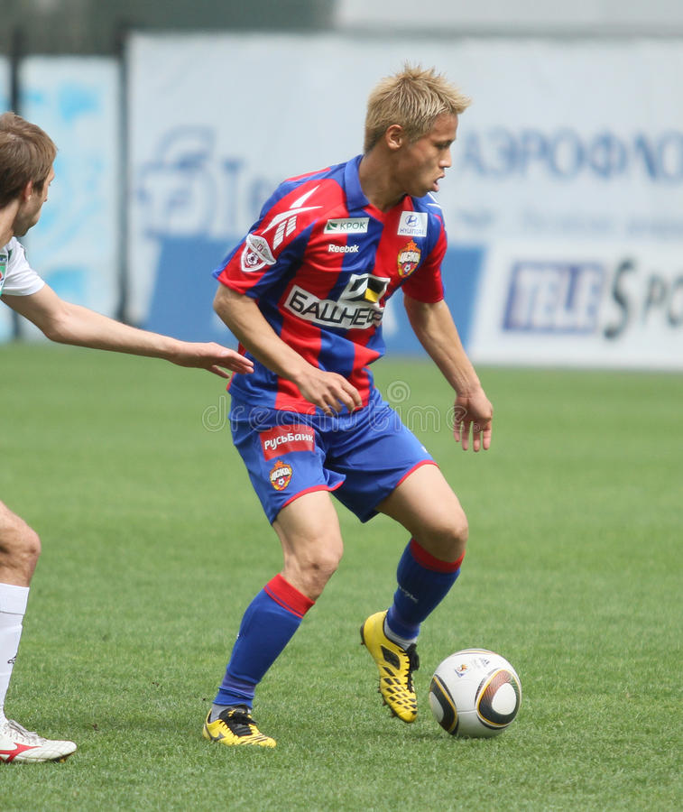 Jogo CSKA Moscovo contra Terek Grozny fotos de stock royalty free