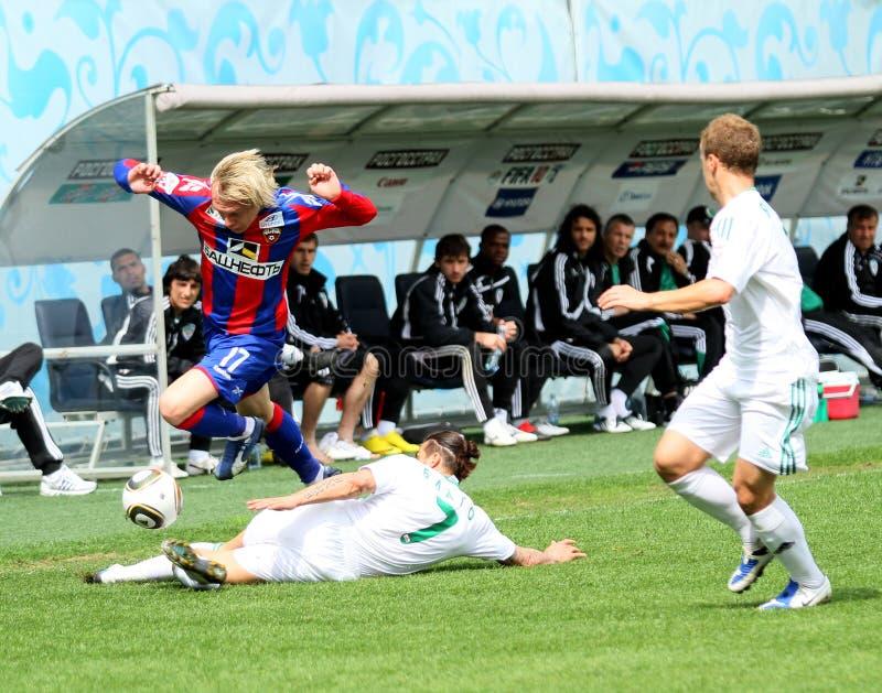 Jogo CSKA Moscovo contra Terek Grozny imagem de stock