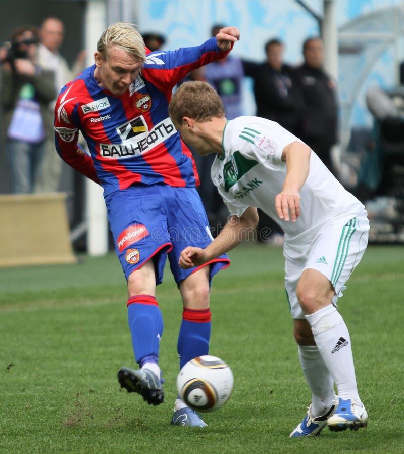Jogo CSKA Moscovo contra Terek Grozny imagens de stock royalty free