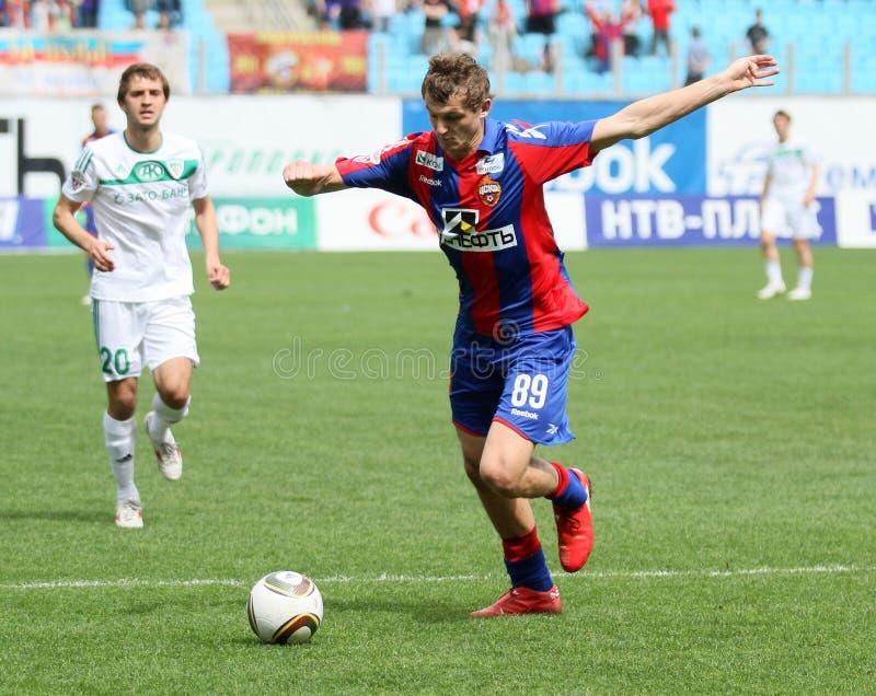 Jogo CSKA Moscovo contra Terek Grozny foto de stock
