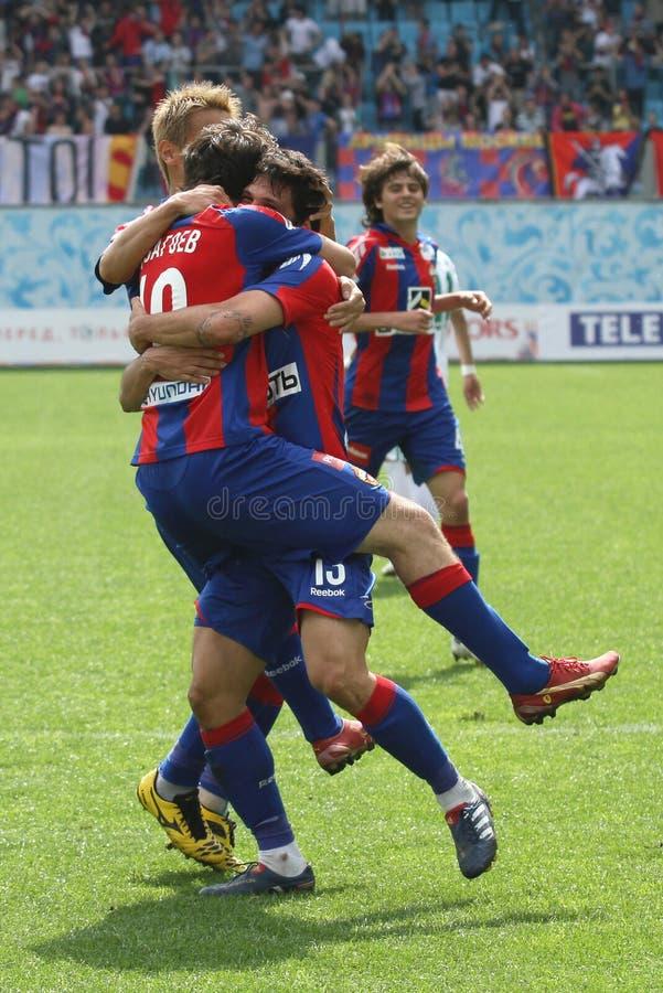 Jogo CSKA Moscovo contra Terek Grozny fotografia de stock royalty free