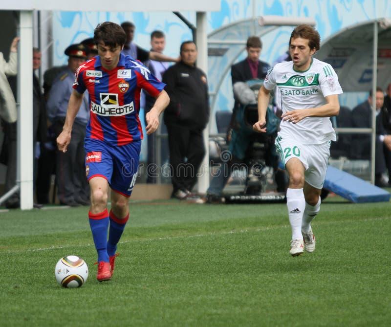 Jogo CSKA (Moscovo) contra Terek (Grozny) - (4: 1) foto de stock