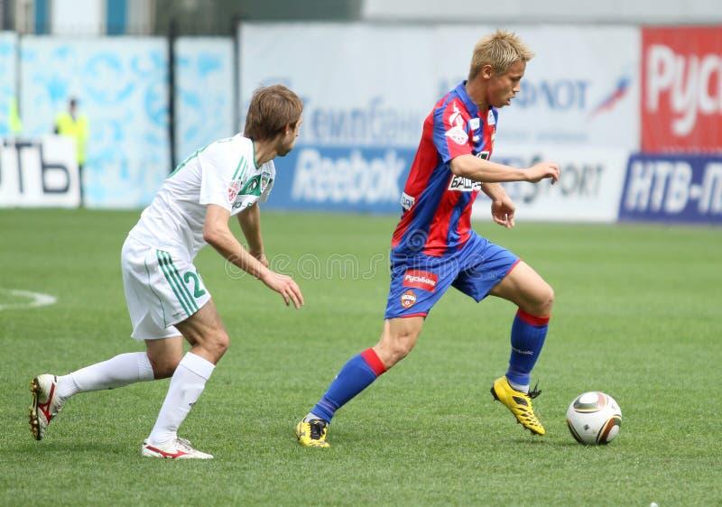 Jogo CSKA (Moscovo) contra Terek (Grozny) - (4: 1) imagens de stock royalty free