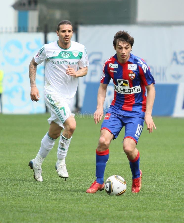 Jogo CSKA (Moscovo) contra Terek (Grozny) - (4: 1) fotografia de stock