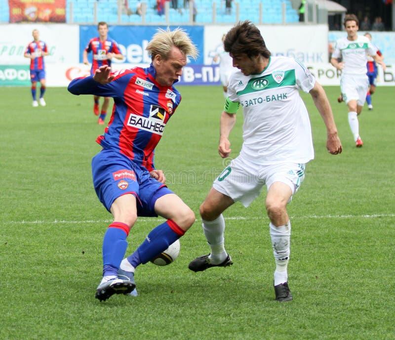 Jogo CSKA (Moscovo) contra Terek (Grozny) - (4: 1) fotos de stock