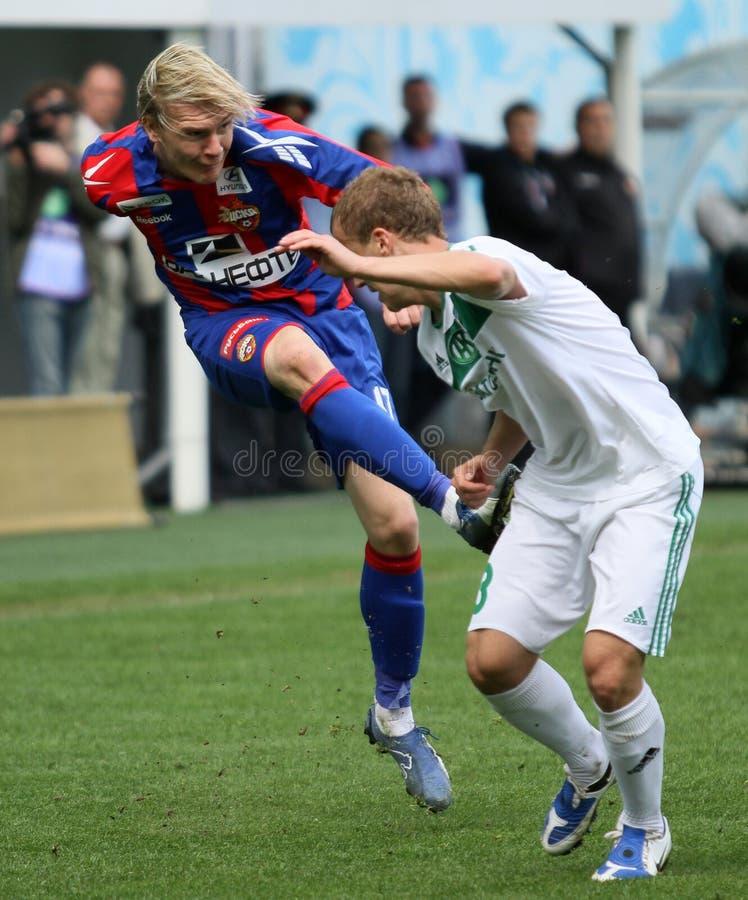 Jogo CSKA (Moscovo) contra Terek (Grozny) - (4: 1) imagens de stock