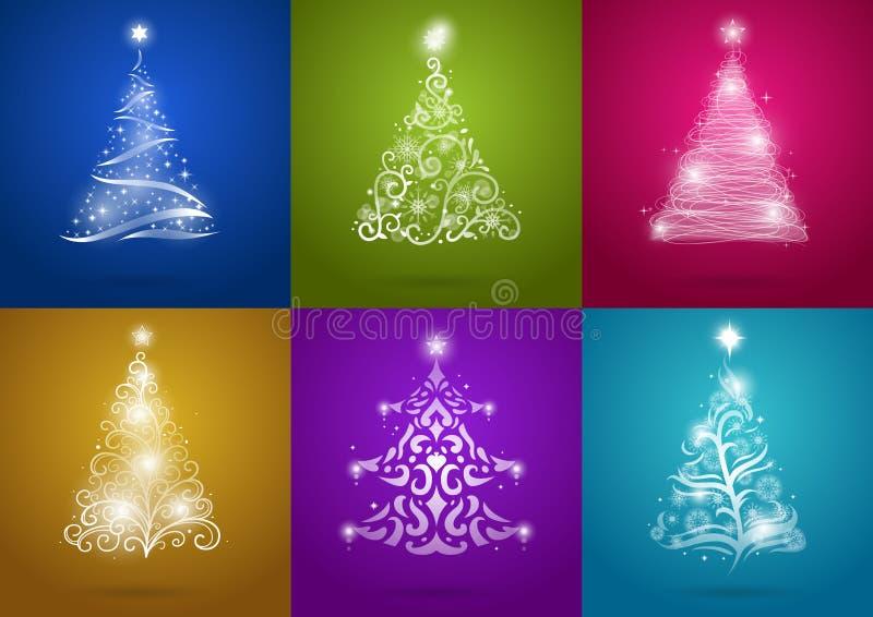 Jogo da árvore de Natal ilustração do vetor