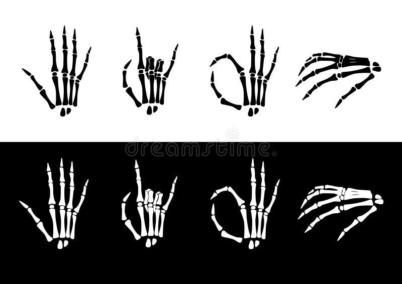 Jogo da anatomia da mão. ilustração royalty free