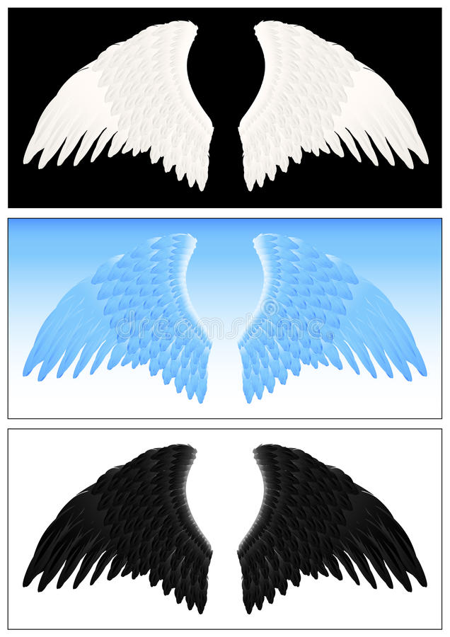 Jogo da asa do anjo ilustração royalty free