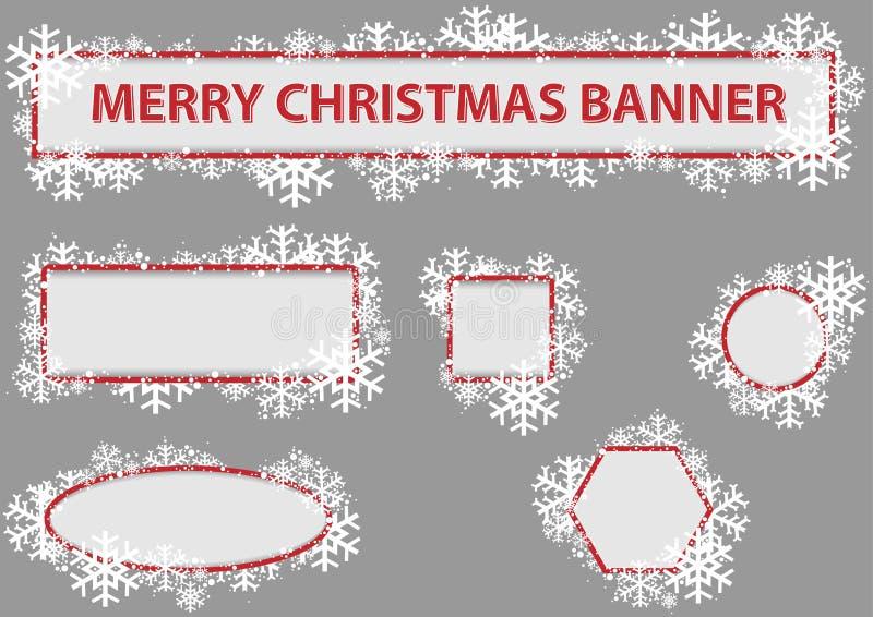 Jogo da bandeira do Natal ilustração stock