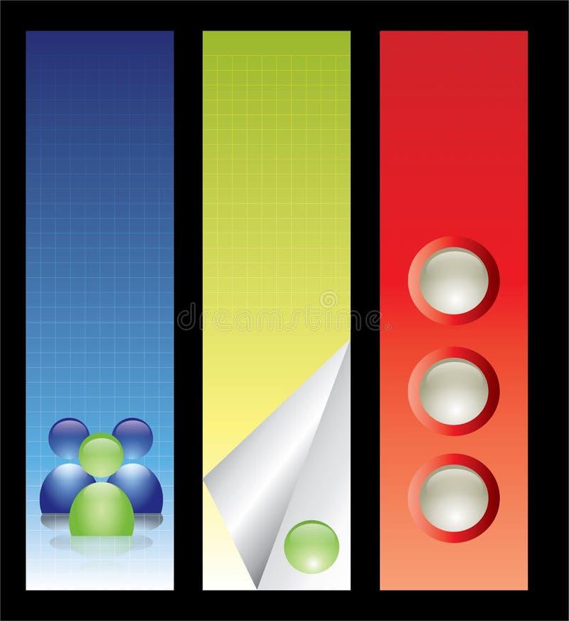 Jogo da bandeira do negócio. Editable. ilustração royalty free