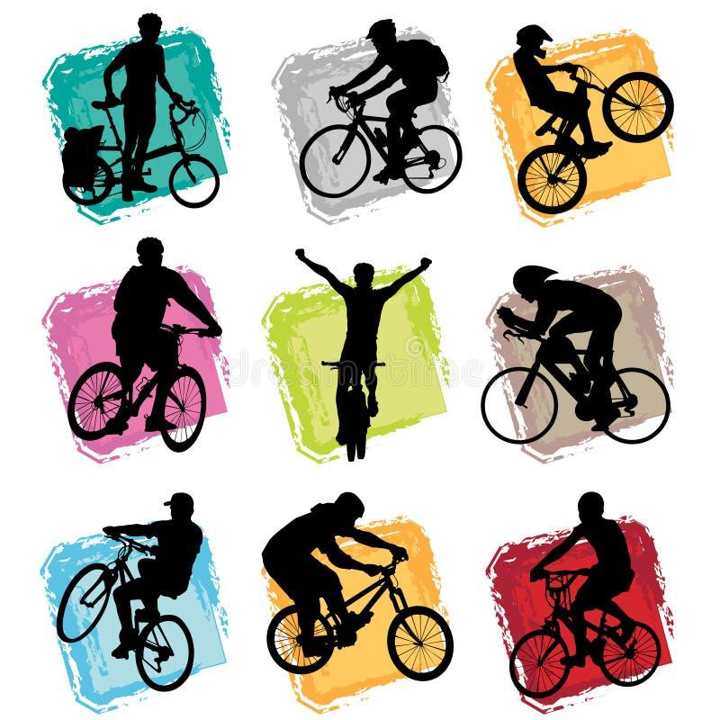 Jogo da bicicleta ilustração royalty free