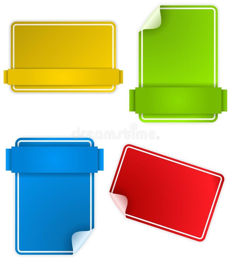 Jogo da caixa de texto colorida ilustração stock