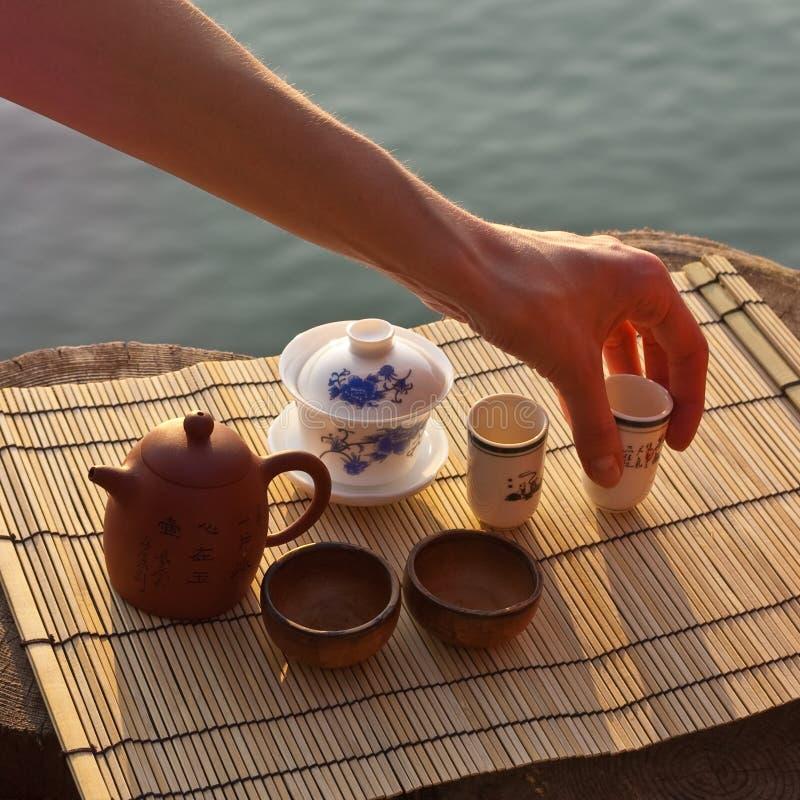 Jogo da cerimónia de chá imagem de stock royalty free
