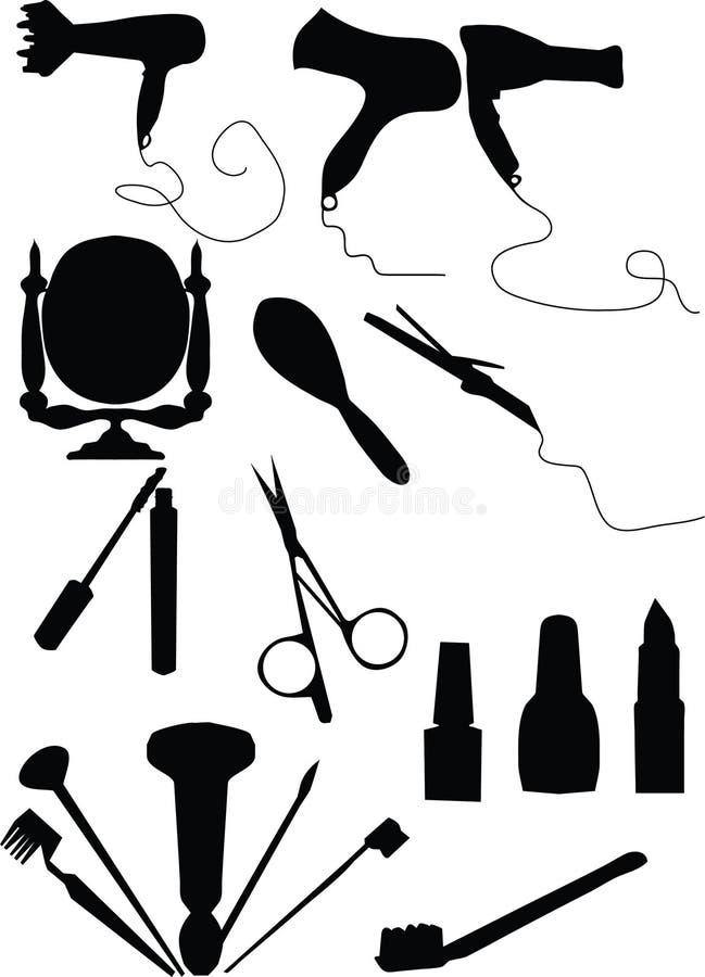 Jogo da composição e do coiffure ilustração do vetor