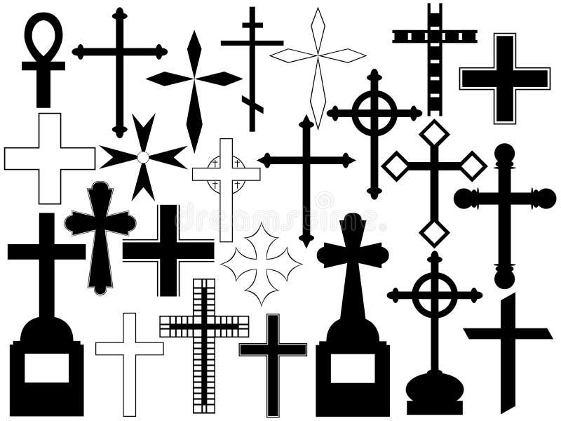 Jogo da cruz ilustração do vetor