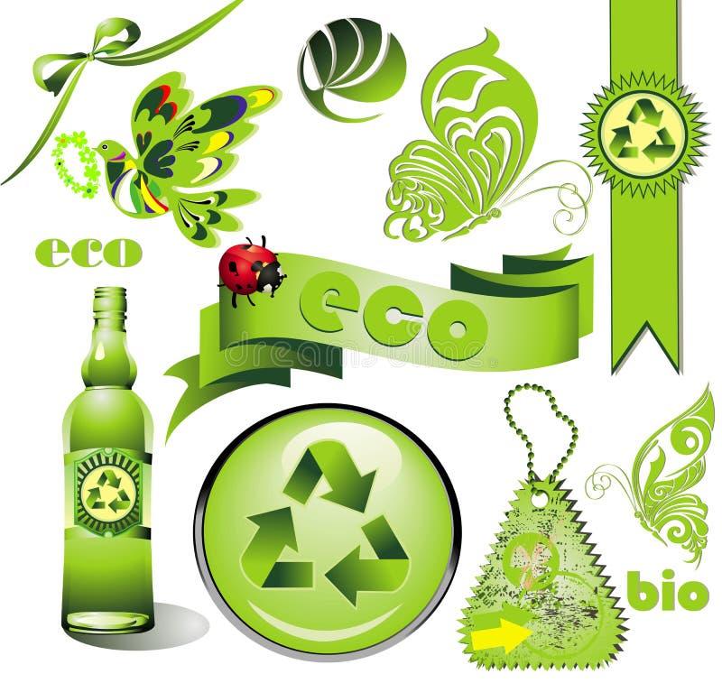 Jogo da ecologia ilustração stock