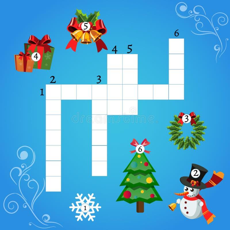 Jogo da educação para crianças sobre o Natal ilustração royalty free