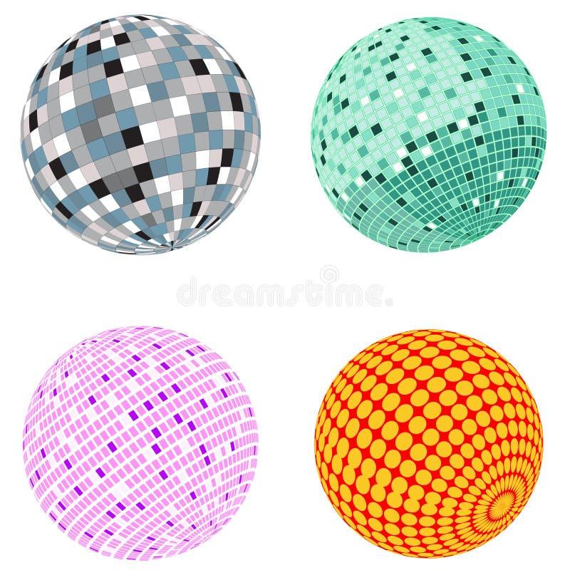 Jogo da esfera do disco do vetor ilustração do vetor