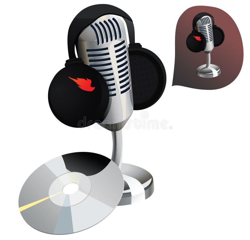 Jogo da estação de rádio/estúdio de gravação ilustração stock