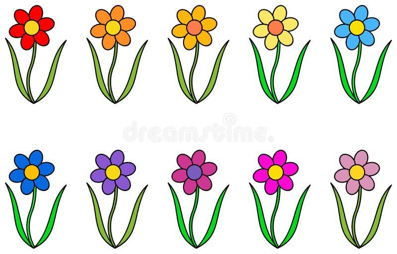 Jogo da flor colorida ilustração do vetor