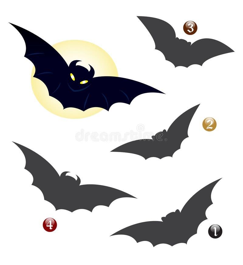 Jogo da forma de Halloween: o bastão ilustração royalty free
