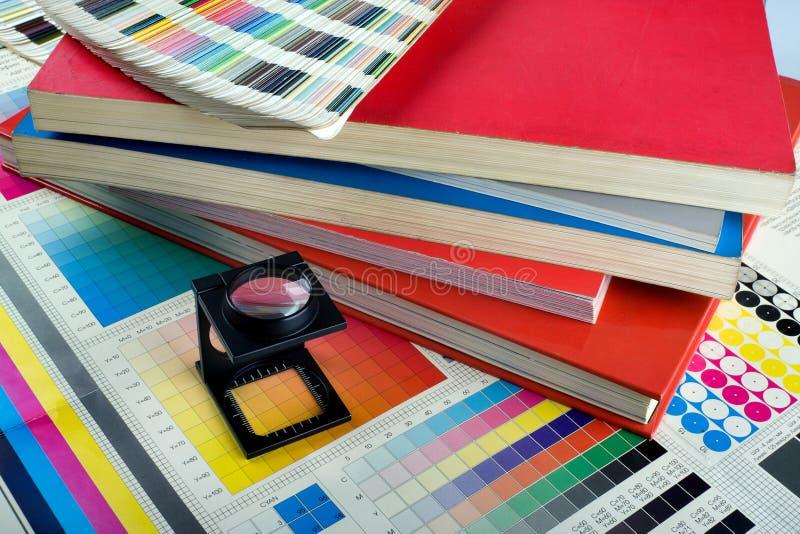 Jogo da gerência de cor fotografia de stock