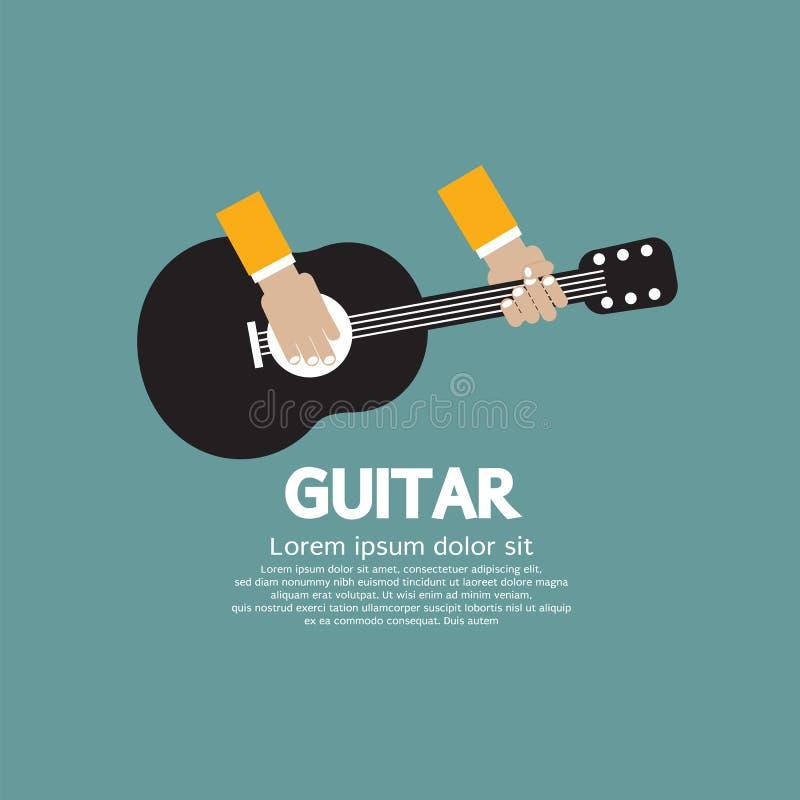 Jogo da guitarra. ilustração stock