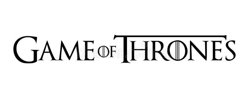 Jogo da ilustração do vetor do logotipo dos tronos ilustração stock