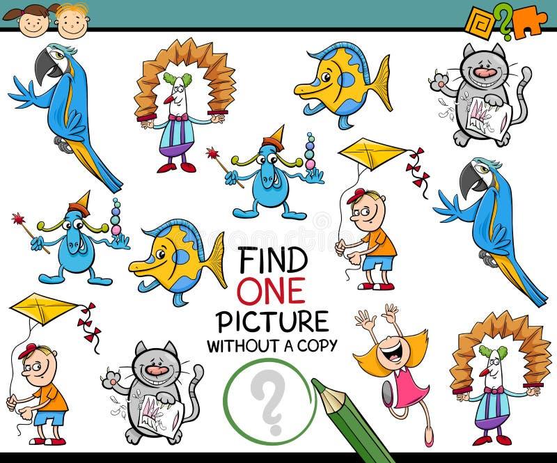 Jogo da imagem do achado um para crianças ilustração do vetor